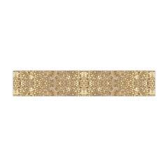 Ornate Golden Baroque Design Flano Scarf (mini)