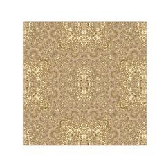 Ornate Golden Baroque Design Small Satin Scarf (square)
