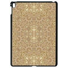 Ornate Golden Baroque Design Apple Ipad Pro 9 7   Black Seamless Case