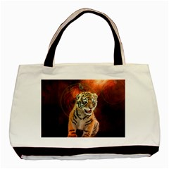 Cute Little Tiger Baby Basic Tote Bag (two Sides)