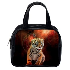 Cute Little Tiger Baby Classic Handbags (one Side)