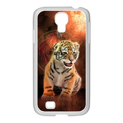 Cute Little Tiger Baby Samsung Galaxy S4 I9500/ I9505 Case (white)
