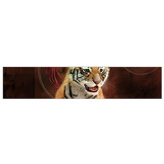 Cute Little Tiger Baby Flano Scarf (small)