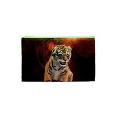 Cute Little Tiger Baby Cosmetic Bag (xs)