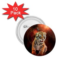 Cute Little Tiger Baby 1 75  Buttons (10 Pack)