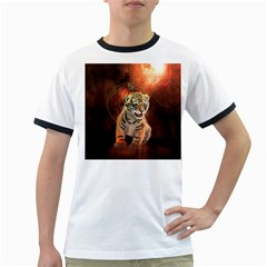 Cute Little Tiger Baby Ringer T Shirts