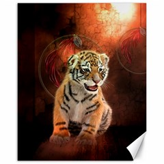 Cute Little Tiger Baby Canvas 16  X 20