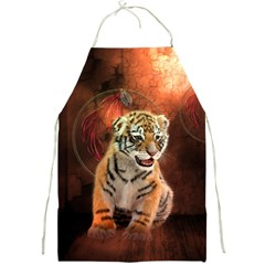 Cute Little Tiger Baby Full Print Aprons