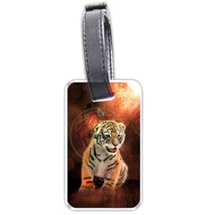 Cute Little Tiger Baby Luggage Tags (two Sides)