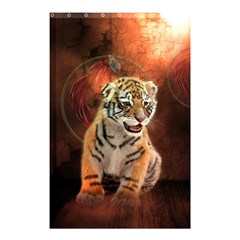 Cute Little Tiger Baby Shower Curtain 48  X 72  (small)