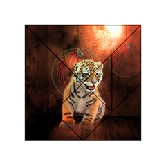 Cute Little Tiger Baby Acrylic Tangram Puzzle (4  X 4 )