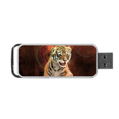 Cute Little Tiger Baby Portable Usb Flash (one Side)