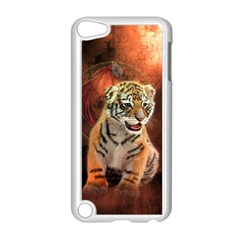 Cute Little Tiger Baby Apple Ipod Touch 5 Case (white)