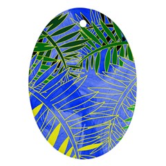 Tropical Palms Ornament (oval)