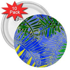 Tropical Palms 3  Buttons (10 Pack)