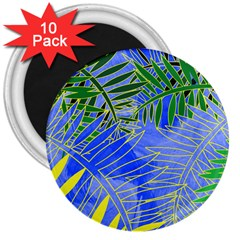 Tropical Palms 3  Magnets (10 Pack)