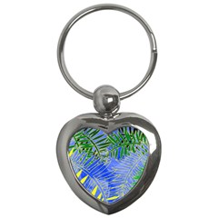 Tropical Palms Key Chains (heart)