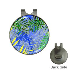 Tropical Palms Hat Clips With Golf Markers