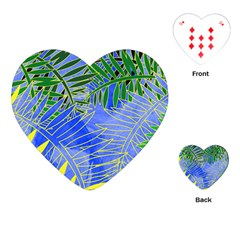 Tropical Palms Playing Cards (heart)