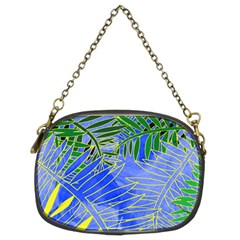 Tropical Palms Chain Purses (two Sides)