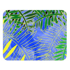Tropical Palms Double Sided Flano Blanket (large)