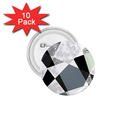 Monogram Marble Mosaic 1 75  Buttons (10 Pack)