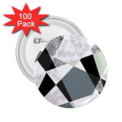 Monogram Marble Mosaic 2 25  Buttons (100 Pack)