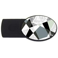 Monogram Marble Mosaic Usb Flash Drive Oval (2 Gb)