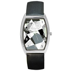 Monogram Marble Mosaic Barrel Style Metal Watch