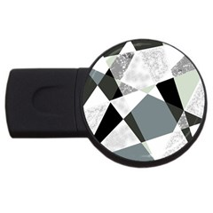 Monogram Marble Mosaic Usb Flash Drive Round (4 Gb)
