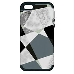 Monogram Marble Mosaic Apple Iphone 5 Hardshell Case (pc+silicone)