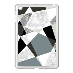 Monogram Marble Mosaic Apple Ipad Mini Case (white)