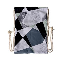 Monogram Marble Mosaic Drawstring Bag (small)