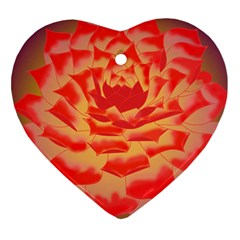 Inner Glow Heart Ornament (two Sides)