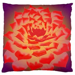 Inner Glow Large Flano Cushion Case (two Sides)