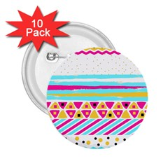 Tribal 2 25  Buttons (10 Pack)
