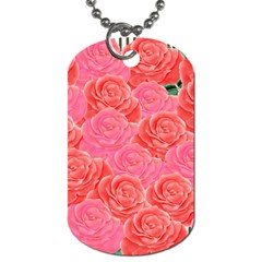 Roses Dog Tag (one Side)
