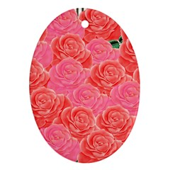 Roses Oval Ornament (two Sides)