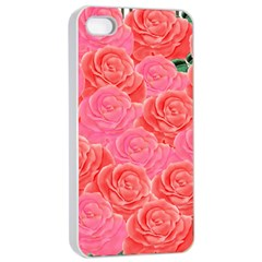 Roses Apple Iphone 4/4s Seamless Case (white)