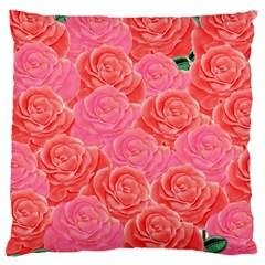 Roses Large Cushion Case (two Sides)