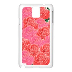 Roses Samsung Galaxy Note 3 N9005 Case (white)