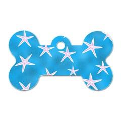 Star Fish Dog Tag Bone (one Side)