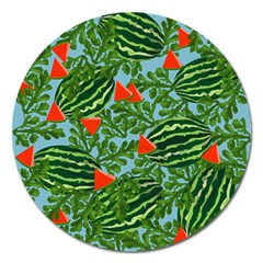 Juicy Watermelons Magnet 5  (round)