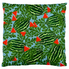 Juicy Watermelons Large Flano Cushion Case (one Side)