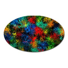 Squiggly Abstract A Oval Magnet