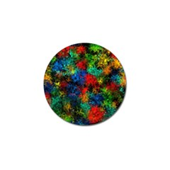 Squiggly Abstract A Golf Ball Marker (4 Pack)