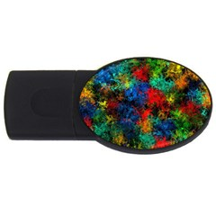 Squiggly Abstract A Usb Flash Drive Oval (2 Gb)