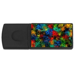 Squiggly Abstract A Rectangular Usb Flash Drive
