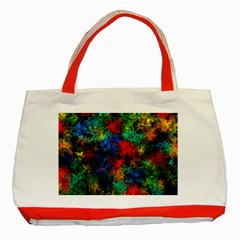 Squiggly Abstract A Classic Tote Bag (red)