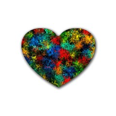 Squiggly Abstract A Heart Coaster (4 Pack)